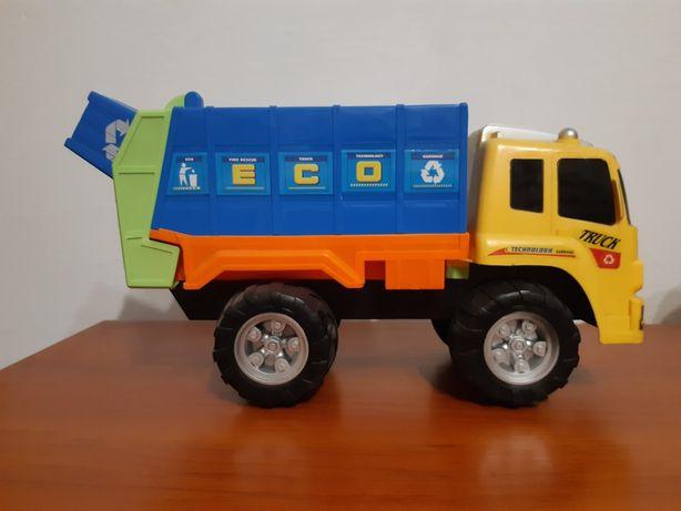 Śmieciarka samochód plastikowy
