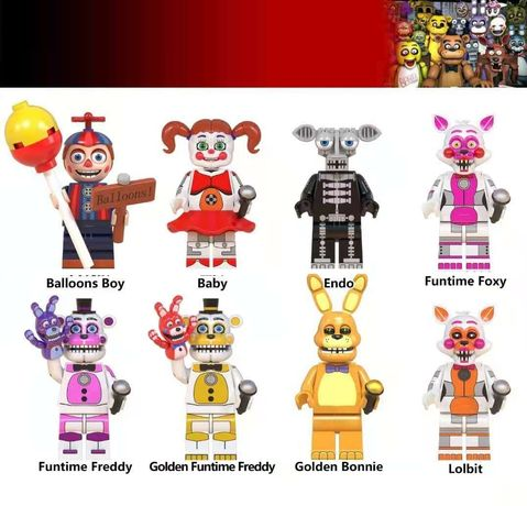 Bonecos minifiguras Five Nights At Freddy's nº8 (compatíveis com Lego)