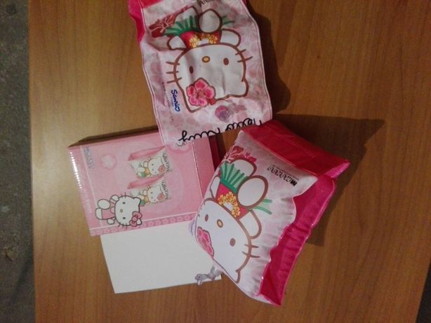 Conjunto de bóias abraçadeiras para criança - Hello Kitty