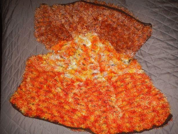 Плед травка одеяло покрывало ручной работы детский