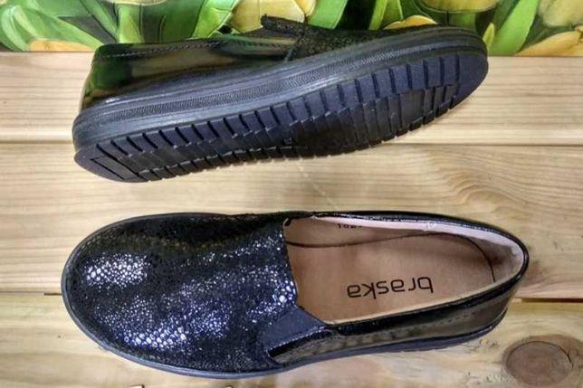 Туфли, слипоны из натуральной кожи Braska