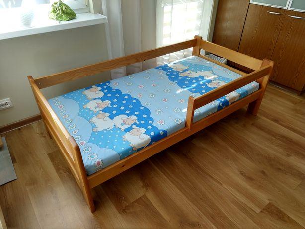 Łóżko sosnowe dziecięce 80x160