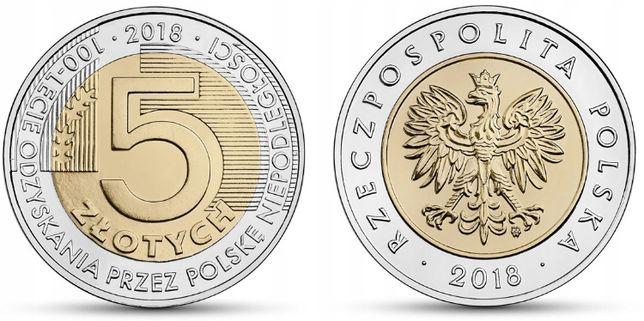 Moneta kolekcjonerska 100- Lecie Odzyskania Niepodległości