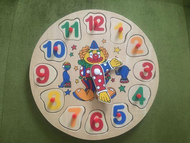Zabawka drewniany zegar