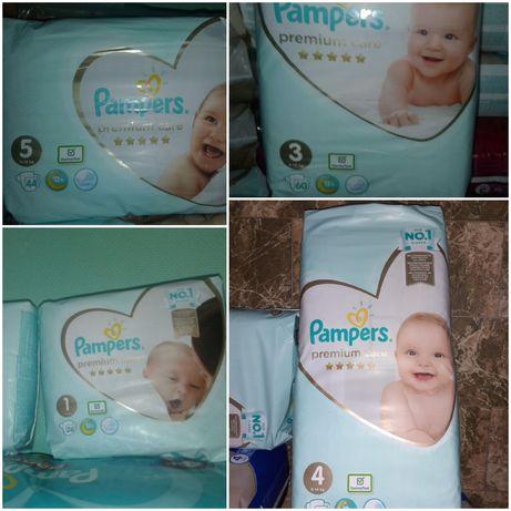 Подгузники Pampers Premium Care памперс премиум кеа