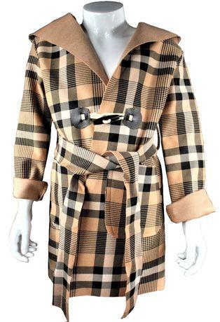 Płaszcz w kratę lekki dziecko jesień r. 4-14