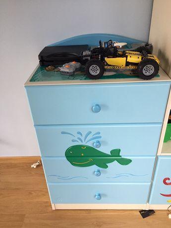 Komoda z szufladami + przewijak do pokoju dzieciencego