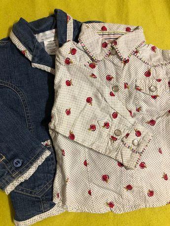 Джинсова куртка+рубашка на дівчинку