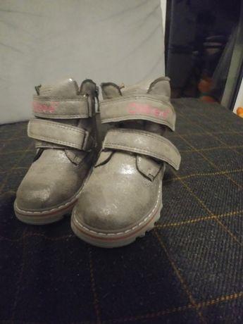 Zimowe buty r.20, srebrne, nowe