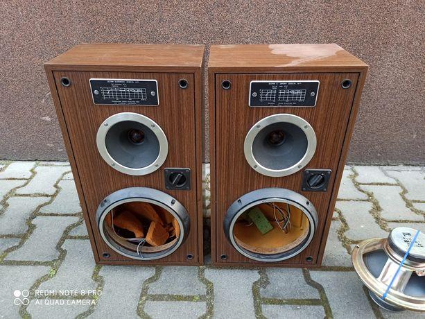Kolumny Unitra Zg30c pierścienie zwrotnice tabliczki głośniki