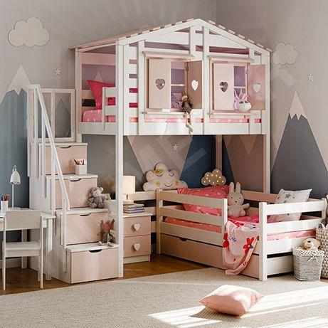 кровать двухъярусная Тифанни 3, двоповерхове ліжко, детская кроватка