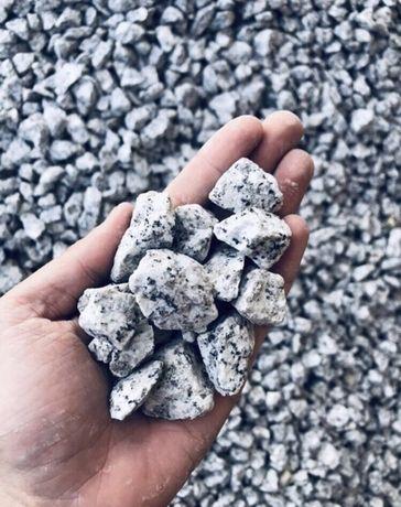 Grys Granitowy DALMATYŃCZYK 8/16 i 16/22 mm Kamień Granit do Ogrodu