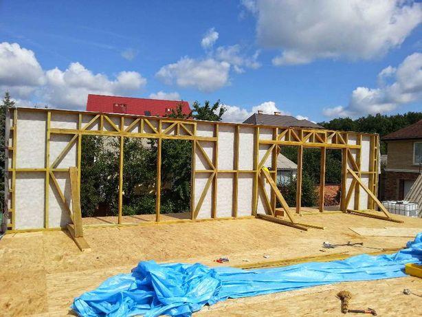 Каркасное строительство домов,кровельные работы,мансарды,реконструкция