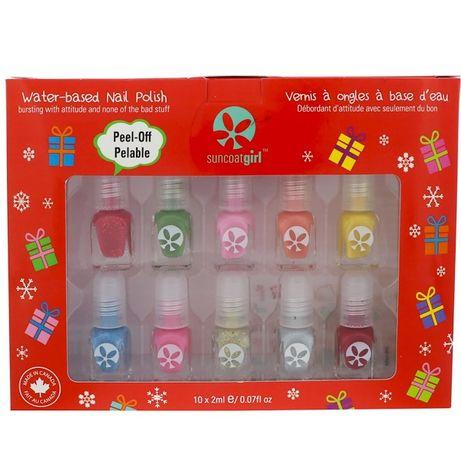 SuncoatGirl, Набір лаків для дитячих нігтиків на водяній основі.