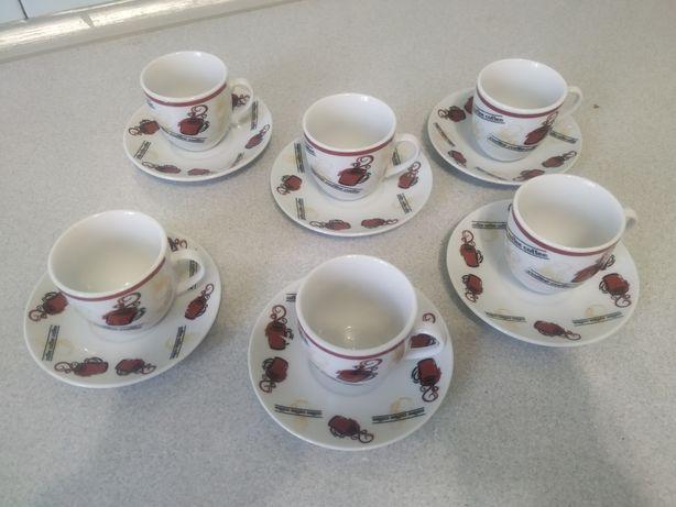 Чашки  кофейные  с блюдцами