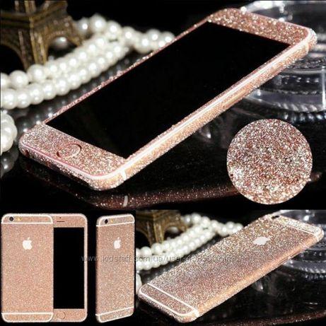 Блестящая пленка для  iPhone 6 Plus 6s Plus, алмазная