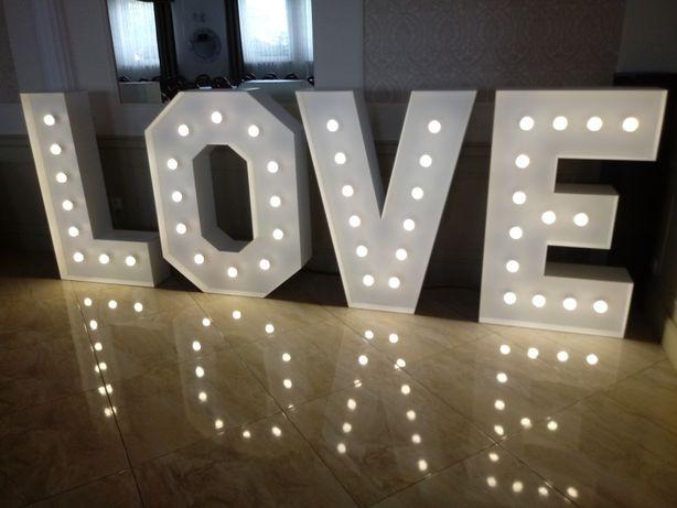 Napis LOVE 120 cm, wesele, ślub