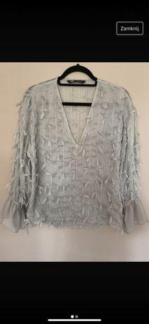 Bluzka z frędzlami Zara