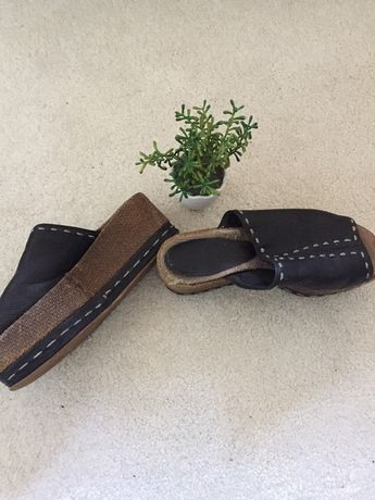 Sandália cinza em pele Aerosoles  40,outros desde tam34