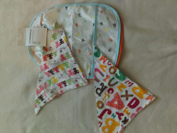 Nowe! Wyprawka śliniaki zestaw dla niemowlaka Ikea prezent