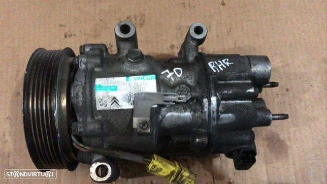 Compressor Ar Condicionado A/C Peugeot 407 / Citroen C4 2.0 HDI Ref Motor: RHR