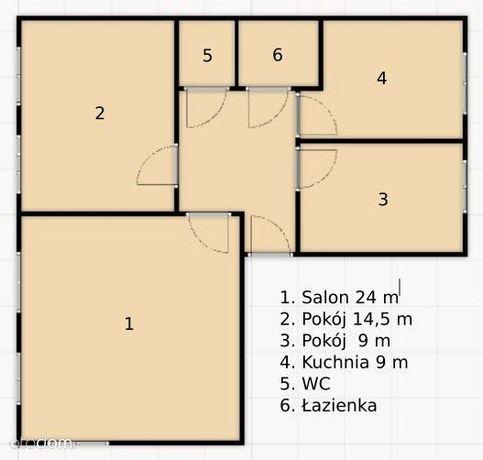 Sprzedam 3 pok.mieszkanie w centrum Koła70m2, I p.