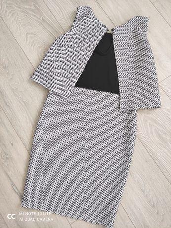 Сукня з пришивною жилеткою