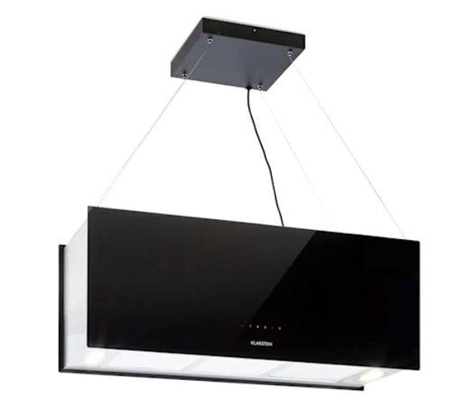 Wyspowy okap kuchenny 90 cm wydajność wyciągu powietrza: 590 m³/h LED