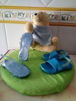 2 - pares de sandálias Usadas em bom estado