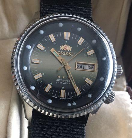 Relógio Orient Kingdiver ,XL 4,1 cm s/coroa ,automático lindo