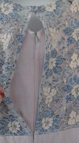 Sukienka koronkowa Monnari rozmiar 38 beż niebieski