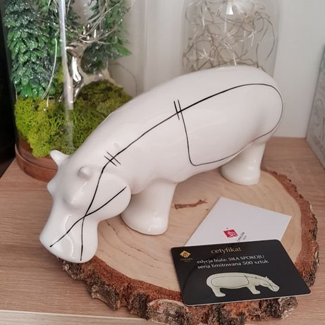 Ćmielów figurka hipopotam Siła Spokoju