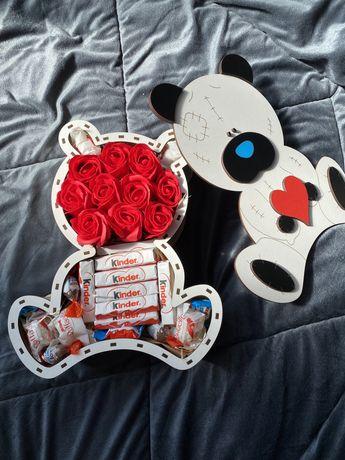 Ursinho , teddy bear caixa de madeira