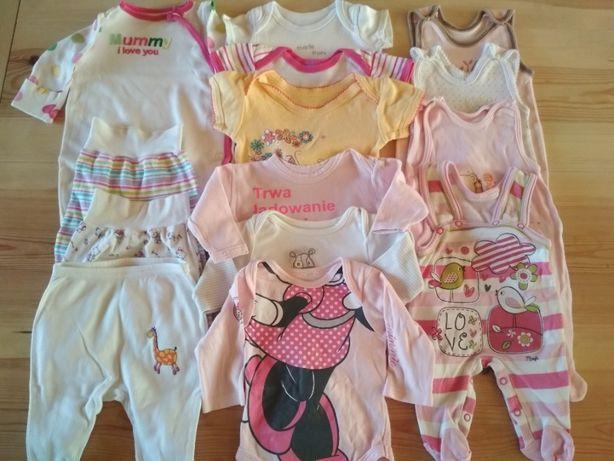 Zestaw ubranek niemowlęcych dla dziewczynki r. 56/62 - 14 sztuk