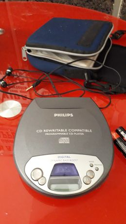 CD Player portátil Digital PHIlips Dynamic Bass Boost .CD Rewritable
