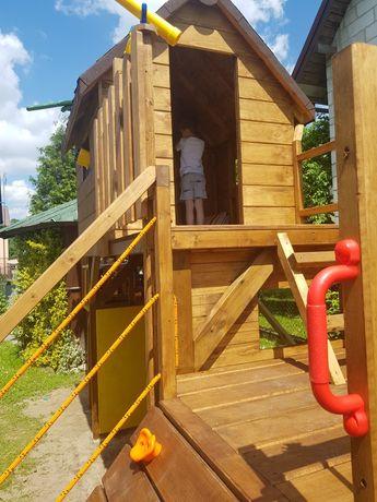 Domek drewniany plac zabaw