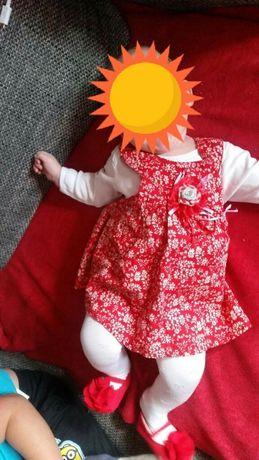 Piękna sukienka dla małej księżniczki r.62/68 cm