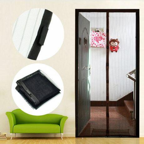 Дверная анти москитная сетка на магнитах