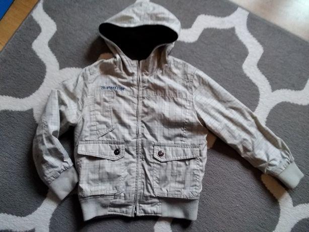 Kurtka jesienna chłopięca dwustronna wiatrówka, bluza Zara r. 118 cm