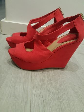 Sandálias Vermelhas Bershka