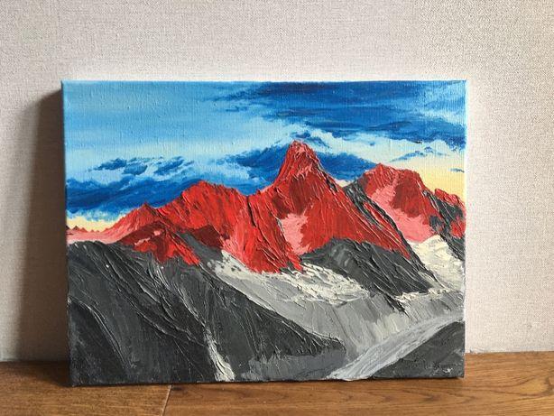 Картина маслом пейзаж горы