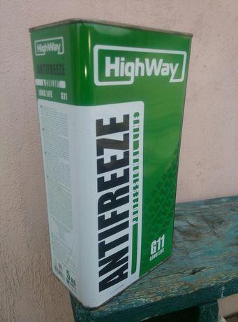 Антіфріз HighWay G11, 5 л.