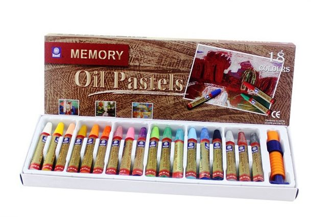 Набор масляной пастели Memory+Набор из 10 кисточек