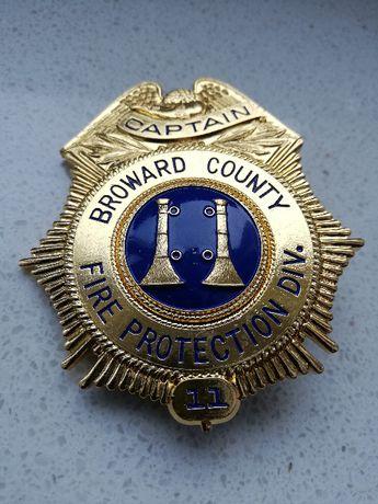 Kolekcjonerskie repliki odznak straży pożarnej USA