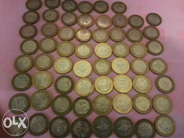 Юбилейные монеты России 10 рублей