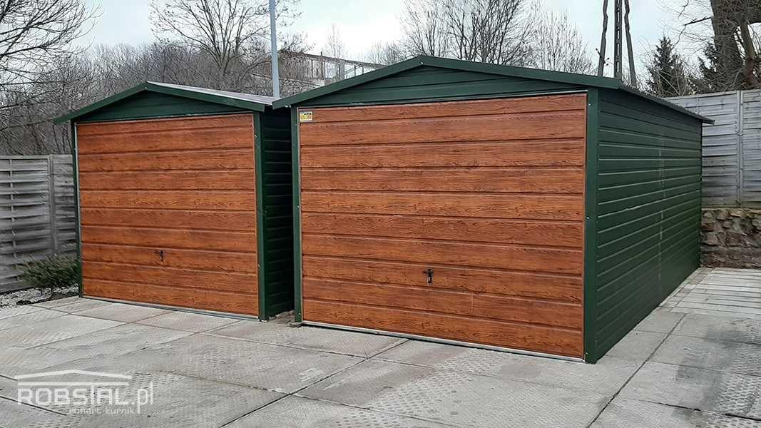 Garaż blaszany 3x5 z bramą uchylną MOCNA ocynkowana konstrukcja