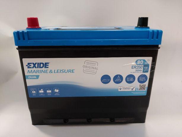 Akumulator do łodzi 12v 80Ah 510A 350Wh Exide Dual ER350