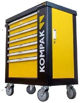 Carro de ferramentas Maxi 7 gavetas 252 peças e porta lateral