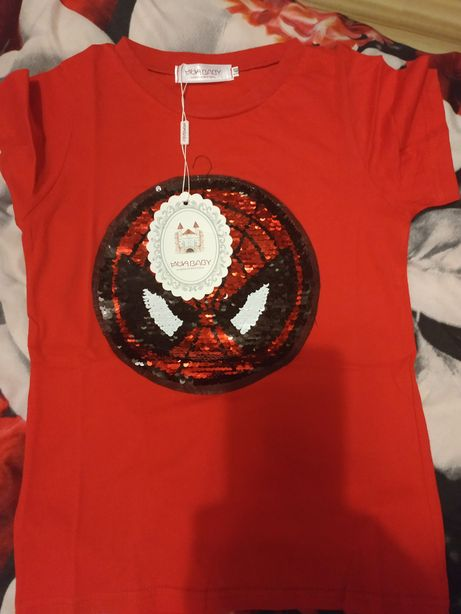 Okazja! Nowa bluzka cekiny spiderman