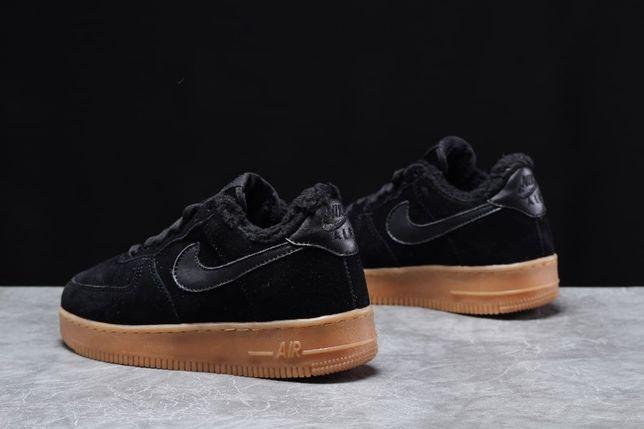 Air AF1. Найк кросовки, мех. Замша. ЗИМА! Мужские кроссовки, Nike